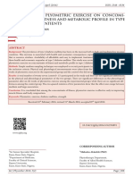 EFFECTS OF PLYOMETRIC EXERCISE ON CONCOMITANTS OF FITNESS AND METABOLIC PROFILE IN TYPE 2 DIABETES PATIENTS