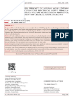 THE COMBINED EFFICACY OF NEURAL MOBILIZATION WITH TRANSCUTANEOUS ELECTRICAL NERVE STIMULATION (TENS) VERSUS NEURAL MOBILIZATION ALONE FOR THE MANAGEMENT OF CERVICAL RADICULOPATHY