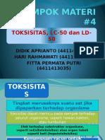 Toksisitas, Ld50 Dan Lc50