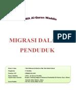 Kerja Khusus Migrasi Dalaman Penduduk 2010