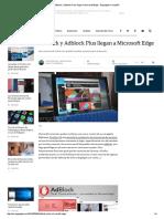 Adblock y Adblock Plus Llegan a Microsoft Edge - Engadget en Español
