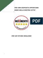 Programma Elettorale M5S PortoRecanati 2016