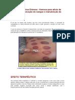 Terapia - Medicina Chinesa - Ventosa para alívio de dores, desintoxicação do sangue e manutenção da saúde..docx