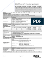 Eaton 9130 700-6000VA 230V Tower Tech Specs Rev 1