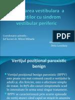 Reeducarea vestibulara  a pacientilor cu sindrom vestibular periferic