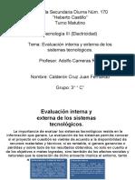 evaluacioninternayexternadelossistemastecnologicos-110410160409-phpapp02