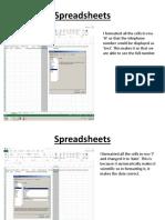 spreadsheets b