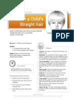 exercise child hair