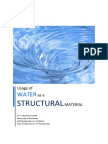 Water as a structural element