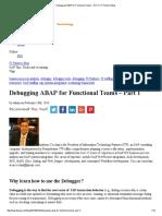 Debugging ABAP for Functional Teams – Part 1 _ IT Partners Blog