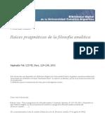 Raices Pragmaticas Filosofia Analitica Nubiola