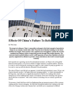 Effects of China Failure to Reform