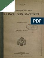(1917) (No.1773) Handbook of the 3.8-Inch Gun Matériel