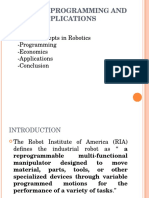 Robotics Programming and Applications