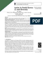Social Enterprise in South Korea History and Diversity
