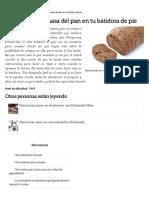 Cómo Hacer La Masa Del Pan en Tu Batidora de Pie _ EHow en Español