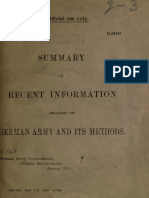 (1917) [S.S. 537] Summary of Recent Information Regarding the German Army and its Methods