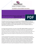 Epc and Ppa Contracts