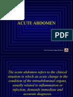 Akut Abdomen