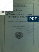 (1917) (War Department Document No.573) Notes on Training for Rifle Fire in Trench Warfare