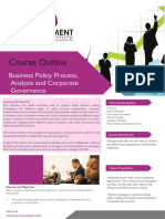 Business Policy Process , Analysis and Coporate Governance