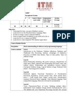 Csl ITL 0407DBMS Syllabus