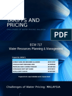 Tariffs and Pricing of Water in Malaysian
