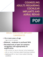 counseling adults regarding cochlear implants and aural rehab