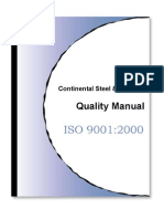 Continental Steel Quality Manual