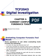 Chap 3 - Current Computer Forensics Tools