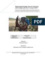 Case Study of Disadvantaged Families (Poorest of the Poor) of Naogaon District Towards Possible Linkage under the Coverage of SSNP