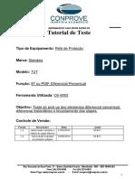 Tutorial Teste Rele Siemens 7UT Diferencial Manual CE6003