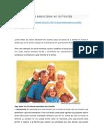 Los 10 Valores Esenciales en La Familia