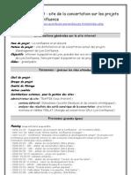 """Fiche Projet Lyon Confluence Site Concertation """"La Confluence, on en discute"""""""