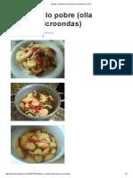 Patatas a Lo Pobre (Olla Exprés Microondas)