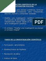 5. El Caracter Cientifico de La Investigación Policial