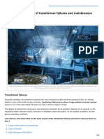 Better Understanding of Transformer Failures and Maintenance Necessity