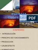 Principio de Funcionamiento de La Energía Geotérmica