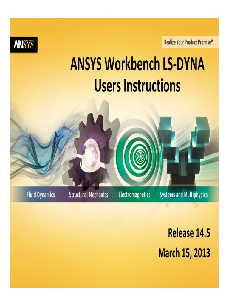 239846002 ANSYS Workbench LS DYNA Users Instructions | Graphical User  Interfaces | Computer Aided Design