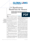 US Manufacturers Should Seize the Moment