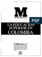 Historia de La Educacila educacion superior en colombiaon en Colombia Unesco II 1985
