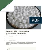 Crema Pastelera de Limón 3
