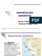 Export Ac i on Definiti Va