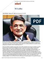 Lodha Pannel Reccommendation on BCCI Reforms