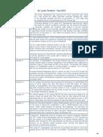Srilanka Timeline 2013