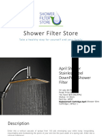 April Shower Stainless Steel Down Pour Shower Filterower Stainless Steel DownPour Shower Filter