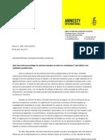 Carta Amnistía Internacional