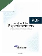 Handbook for Experimenters DX8 Design Expert