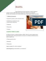 Aromaterapia Para Alumnos de Quiromasaje