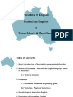 Varieties of English-Australian English